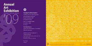 Invitation - Annual Art Exhibition 2009
