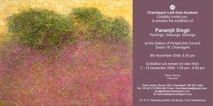 Invitation Exhibition Paramjit Singh