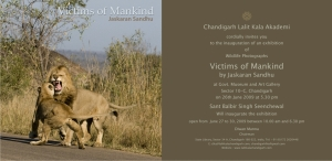 Invitation Wildlife Photography Exhibition-Victims of Mankind