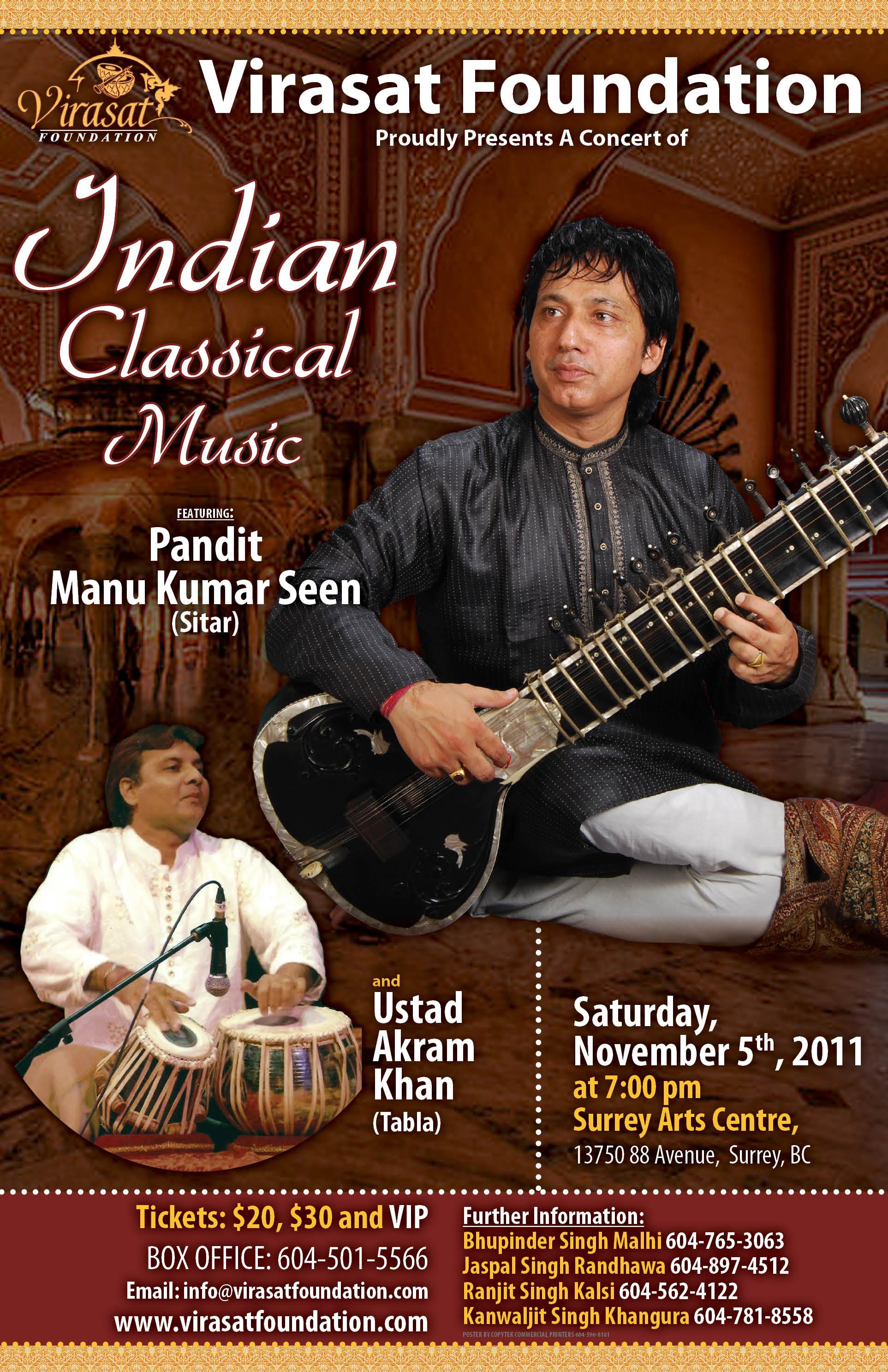 Indian Classical Music At Surrey Arts Centre Nov 5 11 Uddari