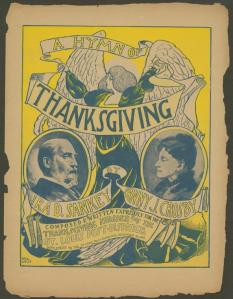"""A Hymn of Thanksgiving"" sheet music cover - November 26, 1899. From Wikipedia."