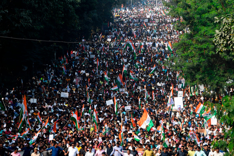 TOPSHOT-INDIA-POLITICS-RIGHTS-UNREST