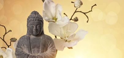 buddha and flower